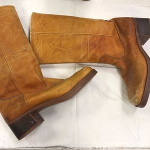 Shoes - Vintage Campus Boots/ 1970's Longhorn Riding Boot